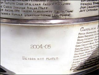 2005cup The NHL Lockout and Me