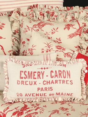 French Laundry French Text Pillow