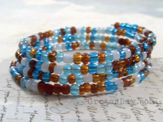riverwrapbraceletwm 550 x 413 How To Make a Wrap Bracelet