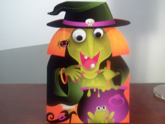 Stand up oversized witch card from Hallmark