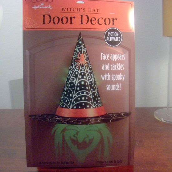 Witch's Hat Hologram Door Decor from Hallmark