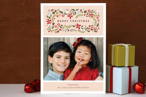 Blushing Christmas Holiday Card