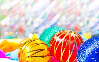 Vibrant Christmas Ornaments