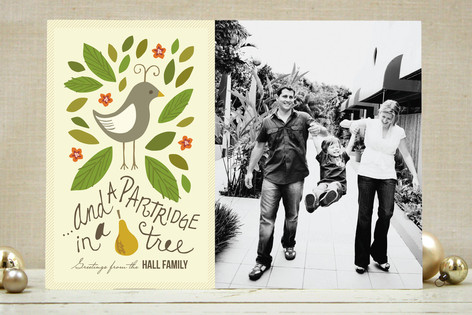 Partridge In a Pear Tree Holiday Card