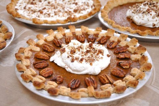 sweet potato pie decorated 525 x 349 20 Holiday Pie Recipes for Your Dinner