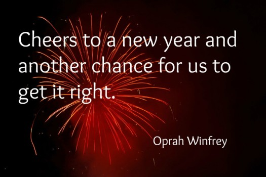 NYEoprah 525 x 350 Celebrate with New Years Quotes