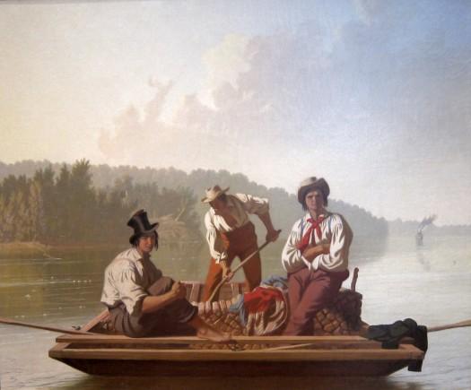 Boatmen on the Missouri painting