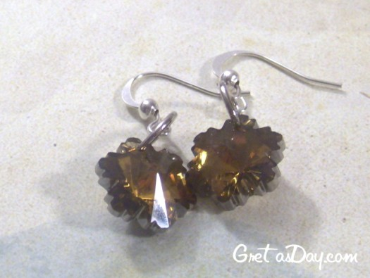 How to make a pair of swarovski crystal flower earrings