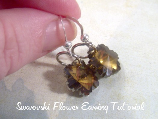 flowerearrings7wm 525 x 394 Flower Swarovski Crystal Earrings Tutorial 