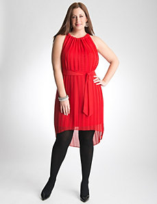 Lane Bryant Red Pleated Dress
