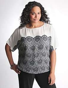 Lane Bryant Lace Print Top