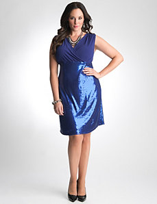 Lane Bryant Sequin Supplice Dress