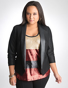 lanebryantsequintankblazer Lane Bryant Holiday Fashion Fun Twitter Party
