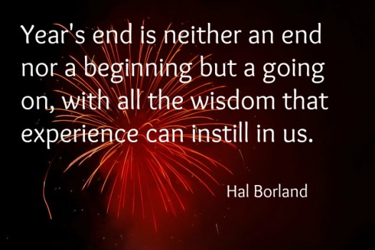 New Years Eve Hal Borland quote