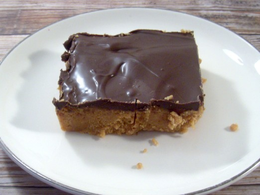 Easy No Bake Peanut Butter Chocoalte Bars Recipe