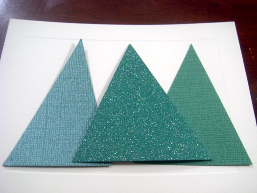 treecards8 525 x 395 Easy and Elegant Christmas Cards Tutorial