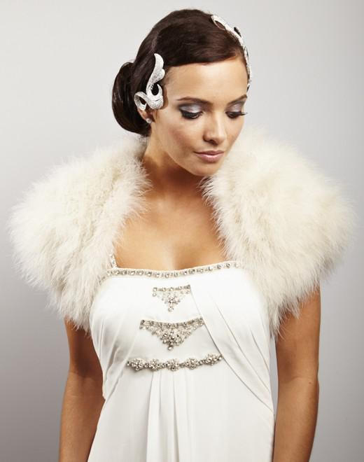 Winter wedding shrug accessories