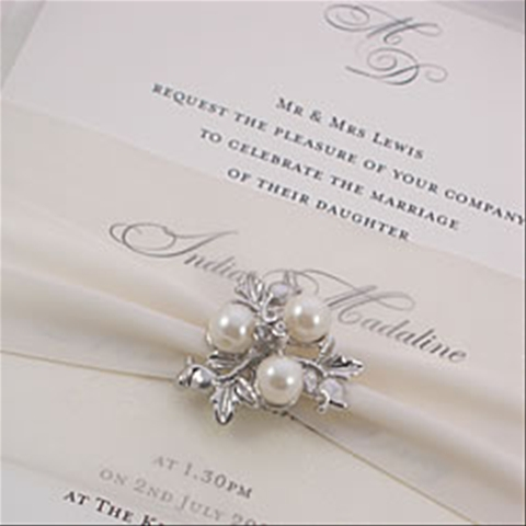Elegant Winter Wedding Invitation