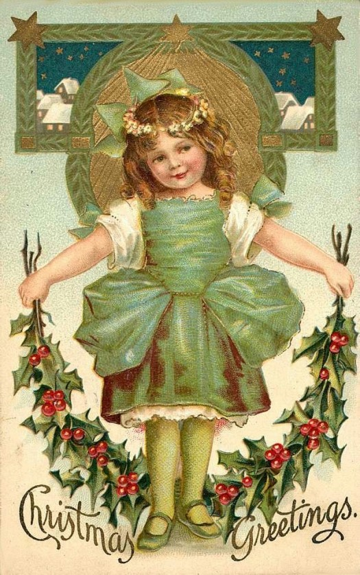 Vintage Christmas Post Card image
