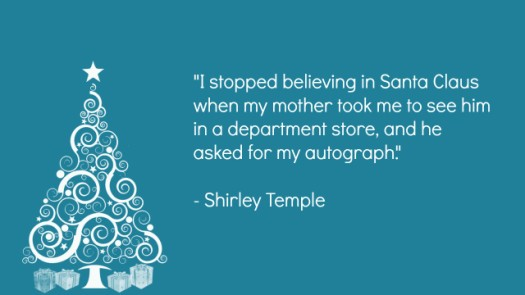 Shirley Temple Santa Claus Quote