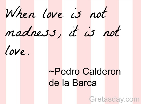 Love is madness Valentines Day Quote