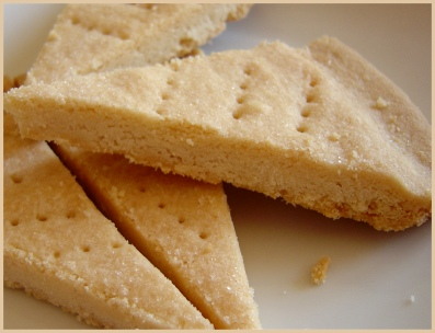 Shortbread cookies with rice flour