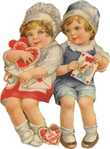 valentine101 Vintage Valentines Day Images | Wordless Wednesday