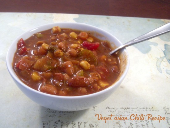 vegetarianchiliwm 550 x 414 Vegetarian Chili Recipe