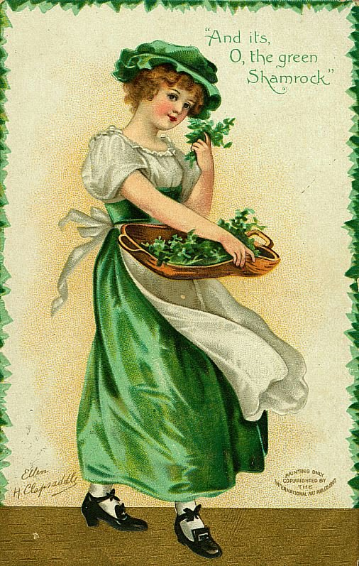 stpat01 St Patricks Day Vintage Postcards | Wordless Wednesday