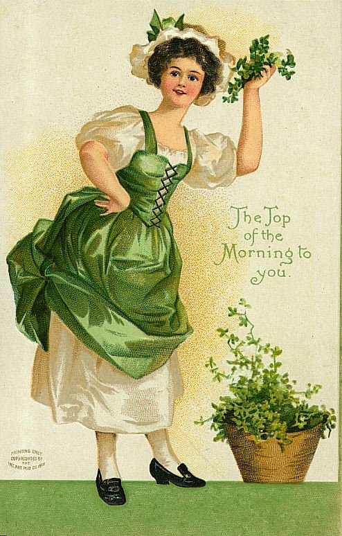 Vintage St Patricks Day Card