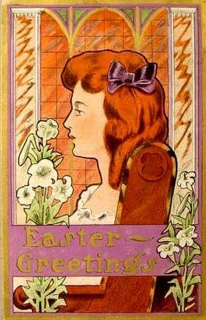 Art Noveau Vintage Easter Image