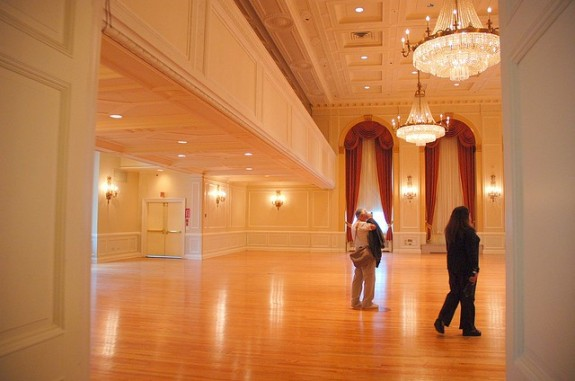 Ballroom for a wedding