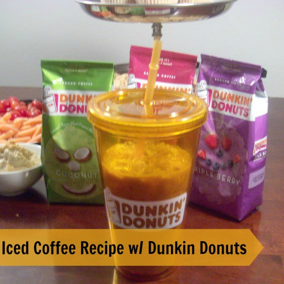 DunkinDonutsicedcoffee2 575 x 576 Iced Coffee Recipe at Home with Dunkin Donuts