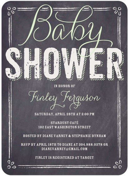 Baby Board Baby Shower Invitation