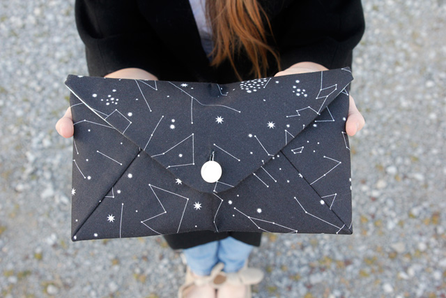 Make your own envelope clutch