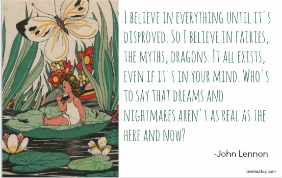 Fairy Quote John Lennon fairies are real