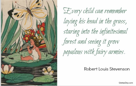 Fairy Quote fairy armies Robert Louis Stevenson