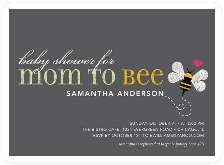 Loving Bee Baby Shower Invitations
