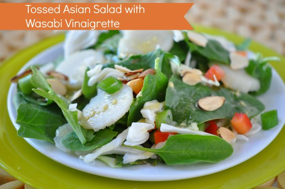 Tossed Asian Salad with wasabi Vinaigrette2 Tossed Asian Salad with Wasabi Vinaigrette Recipe
