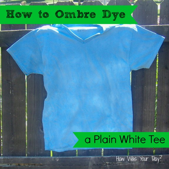 blueombreshirt2wm How to Ombre Dye a Shirt #summerofjoann