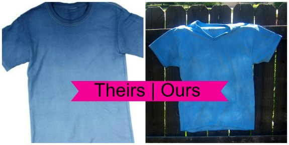 blueombreshirtcollage2 How to Ombre Dye a Shirt #summerofjoann
