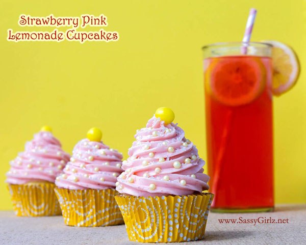 Strawberry Pink Lemonade Cupcakes – Cupcakes made from scratch. For ...