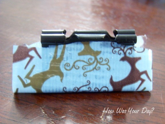 duct tape binder clip 2 575 x 432 Decorated Binder Clips are Fun Duct Tape Crafts