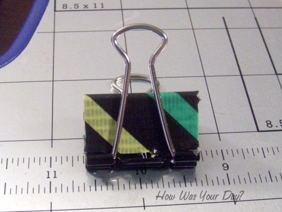 duct tape binder clips 2 575 x 432 Decorated Binder Clips are Fun Duct Tape Crafts