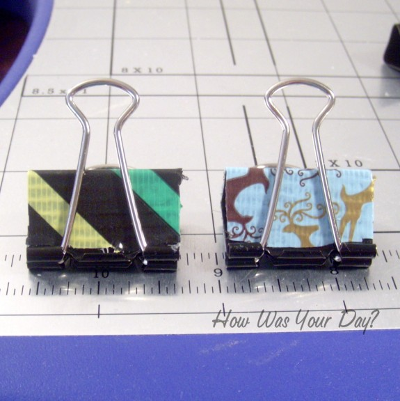Finished Duct Tape Binder Clips