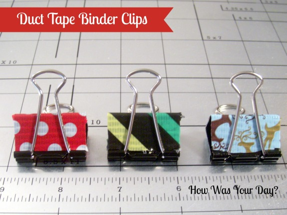 duct tape binder clips Decorated Binder Clips are Fun Duct Tape Crafts