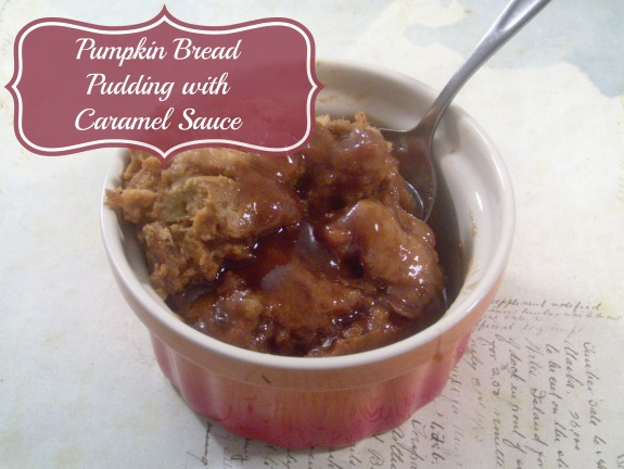 pumpkin bread pudding 3 Pumpkin Bread Pudding Recipe with Homemade Caramel Sauce