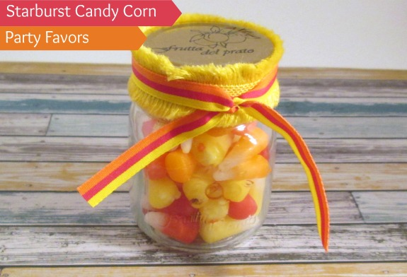 starburst candy corn party favors DIY Starburst Candy Corn Party Favors