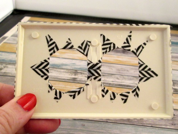 washi tape switchplate step 10 625 x 470 DIY Washi Tape Switch Plate Cover Tutorial