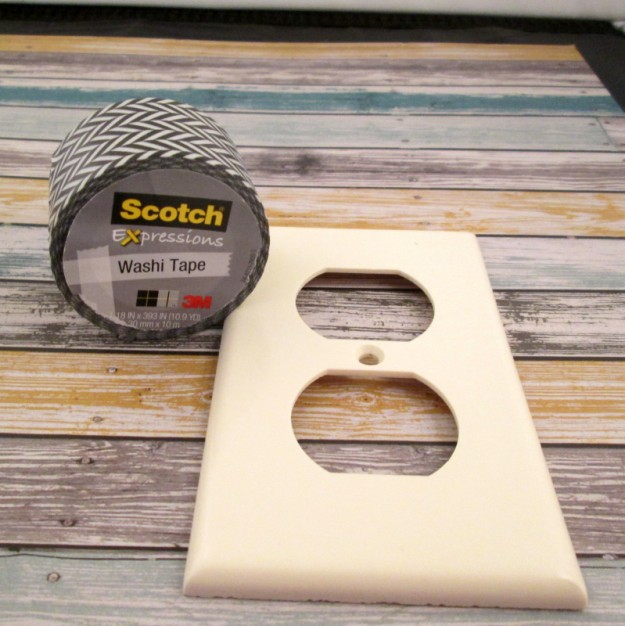 washi tape switchplate supplies 625 x 626 DIY Washi Tape Switch Plate Cover Tutorial
